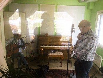 Benny Borg og Sigmund Groven i studio